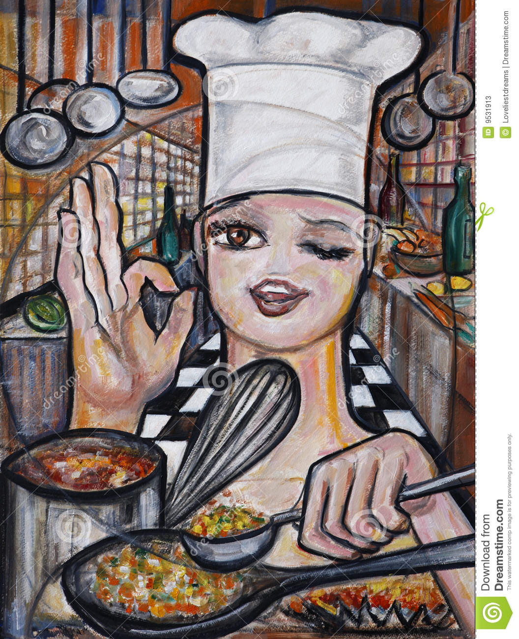 The Art Of Cooking Stock Illustration Illustration Of
