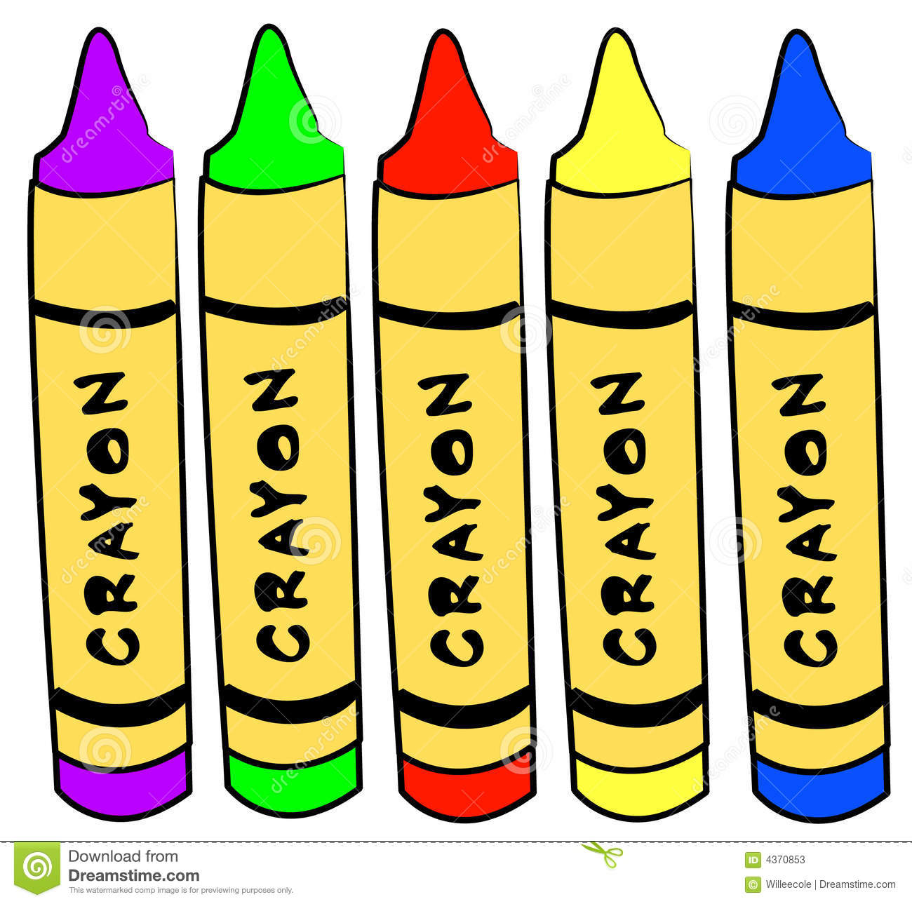 art and craft crayons stock photos image 4370853 Paperback Book Clip Art Clip Art Pile of Books