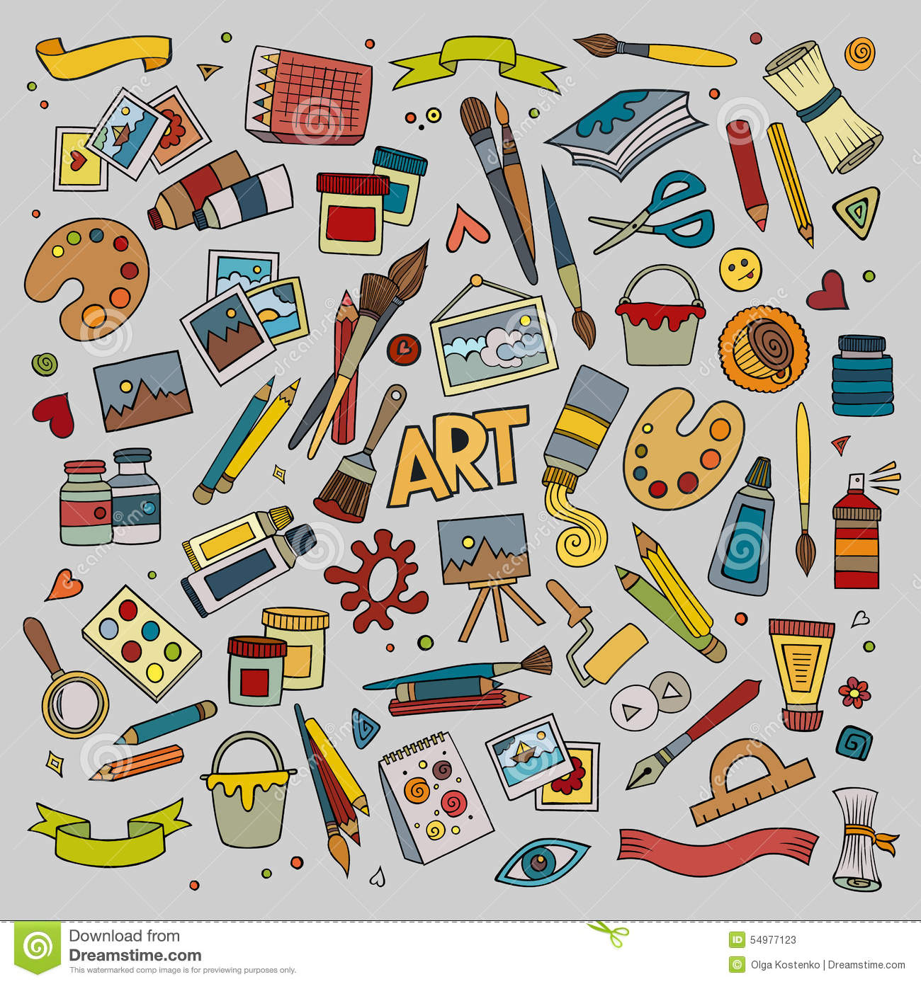Art And Craft Vector Symbols And Objects Stock Vector Illustration