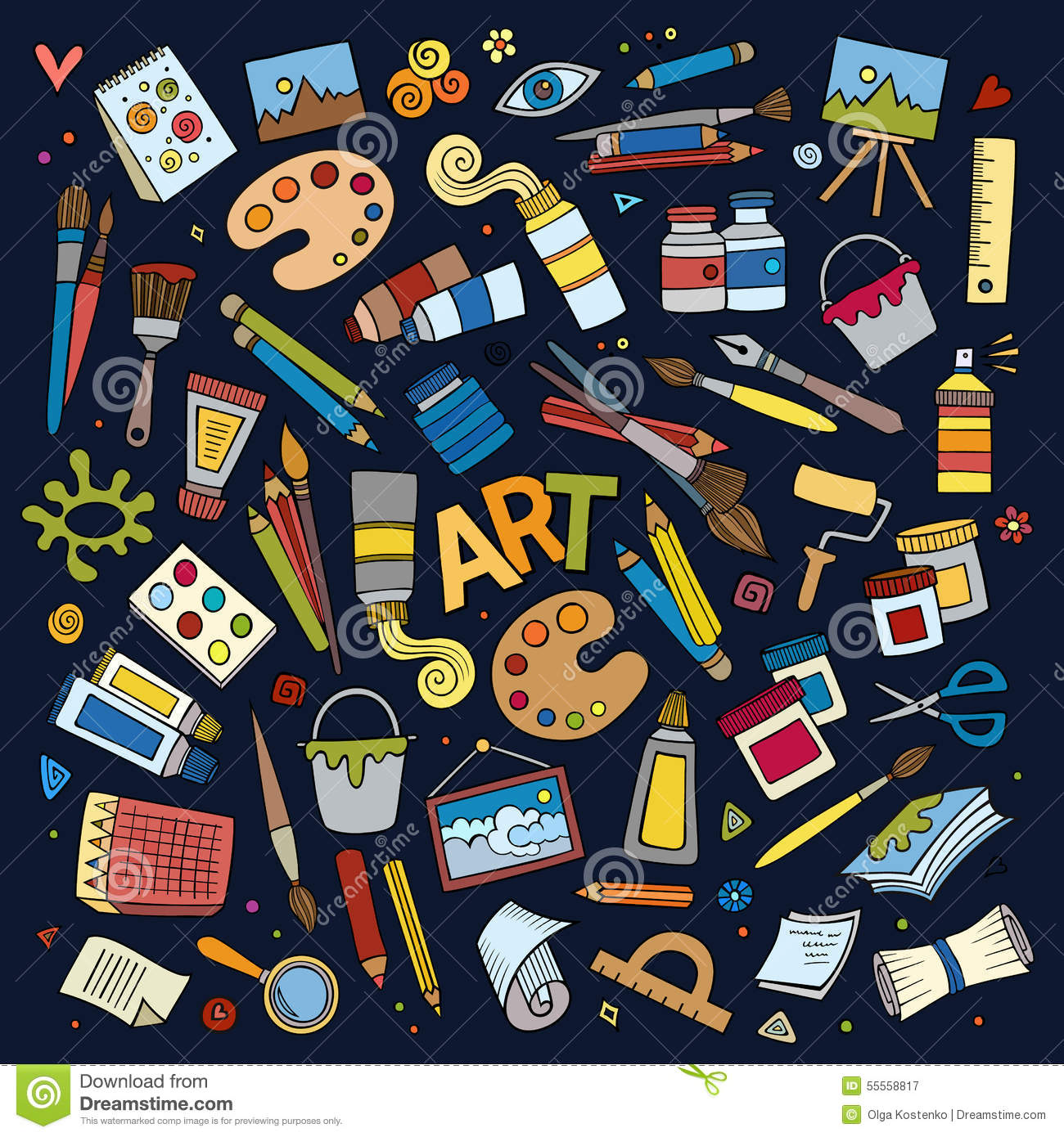 art and craft vector symbols and objects stock vector