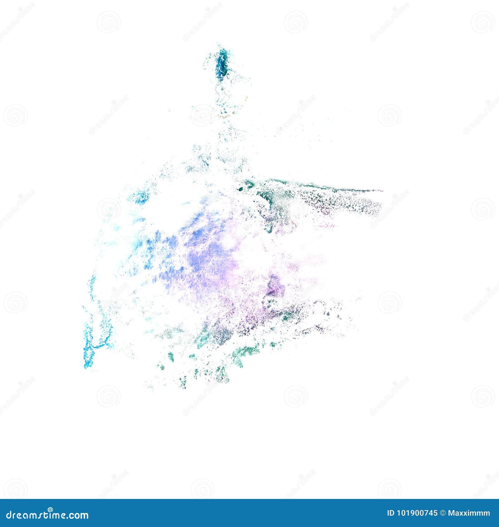 Art Dark blue watercolor ink paint blob watercolour splash color