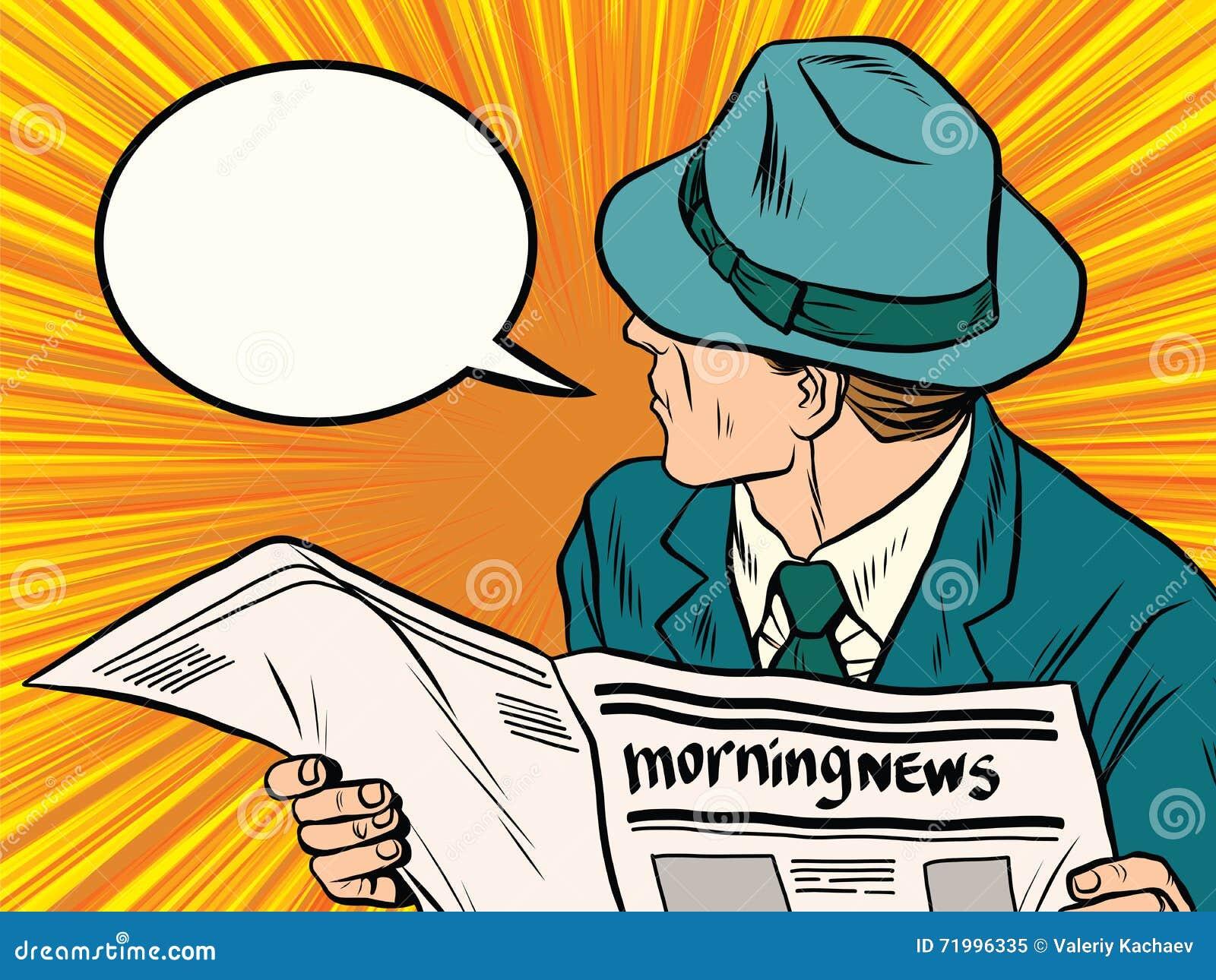Art de bruit de réaction de lecteur de journal