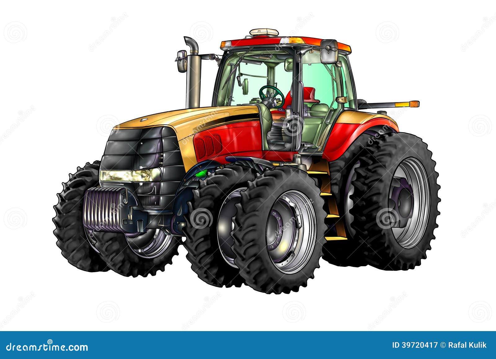 art de couleur d 39 illustration de tracteur agricole illustration stock illustration du piloter. Black Bedroom Furniture Sets. Home Design Ideas