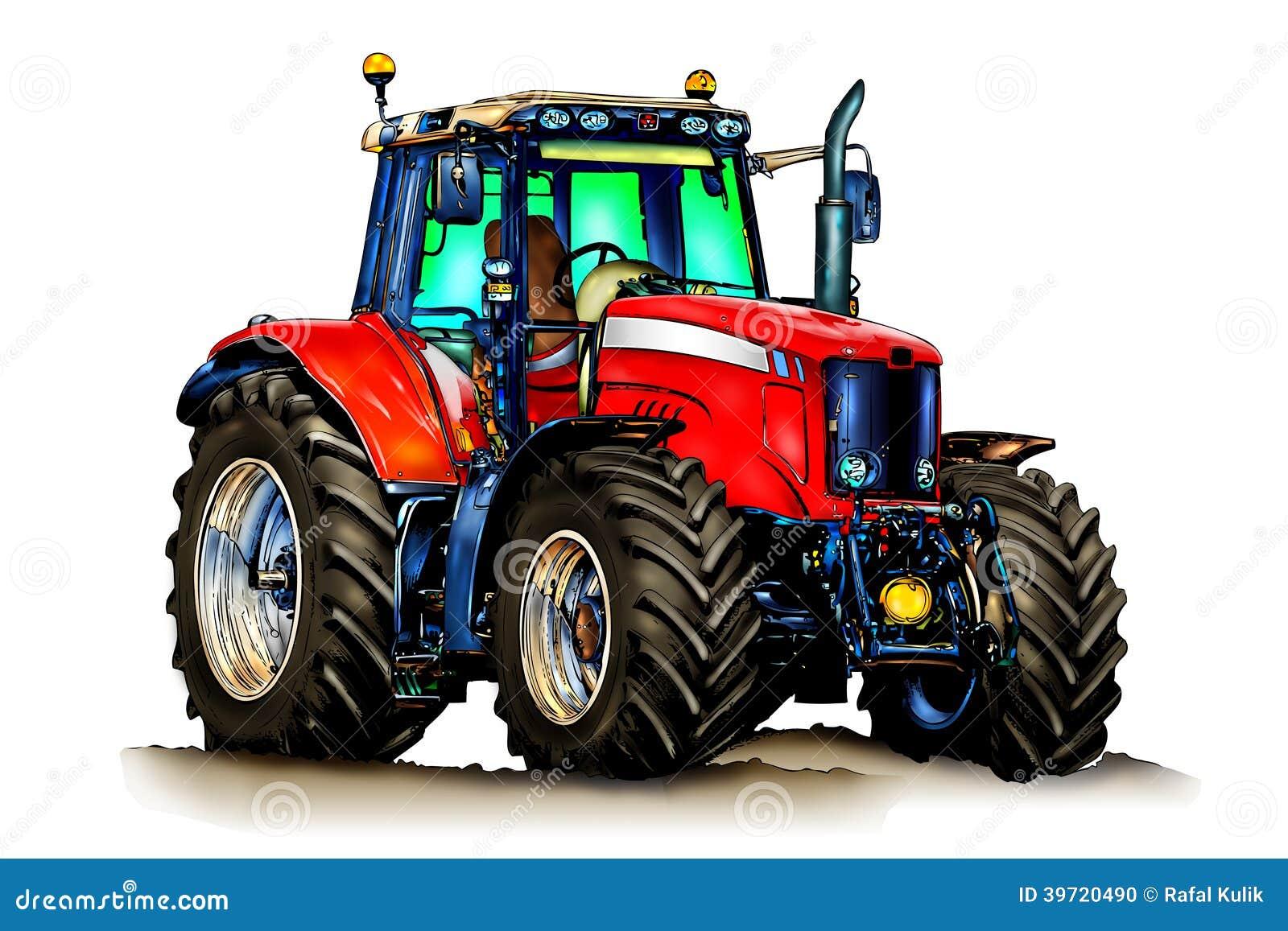 art de couleur d 39 illustration de tracteur agricole illustration stock illustration du fermier. Black Bedroom Furniture Sets. Home Design Ideas