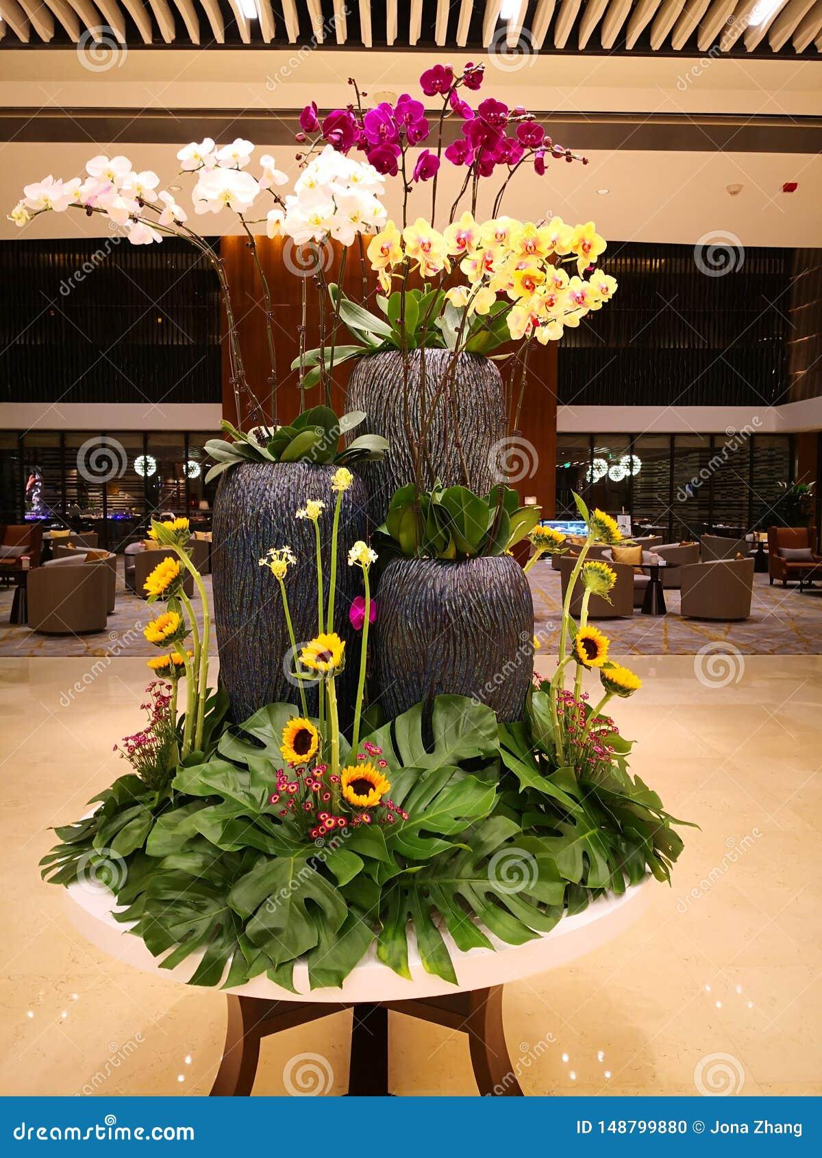 Art de fleur dans l hôtel
