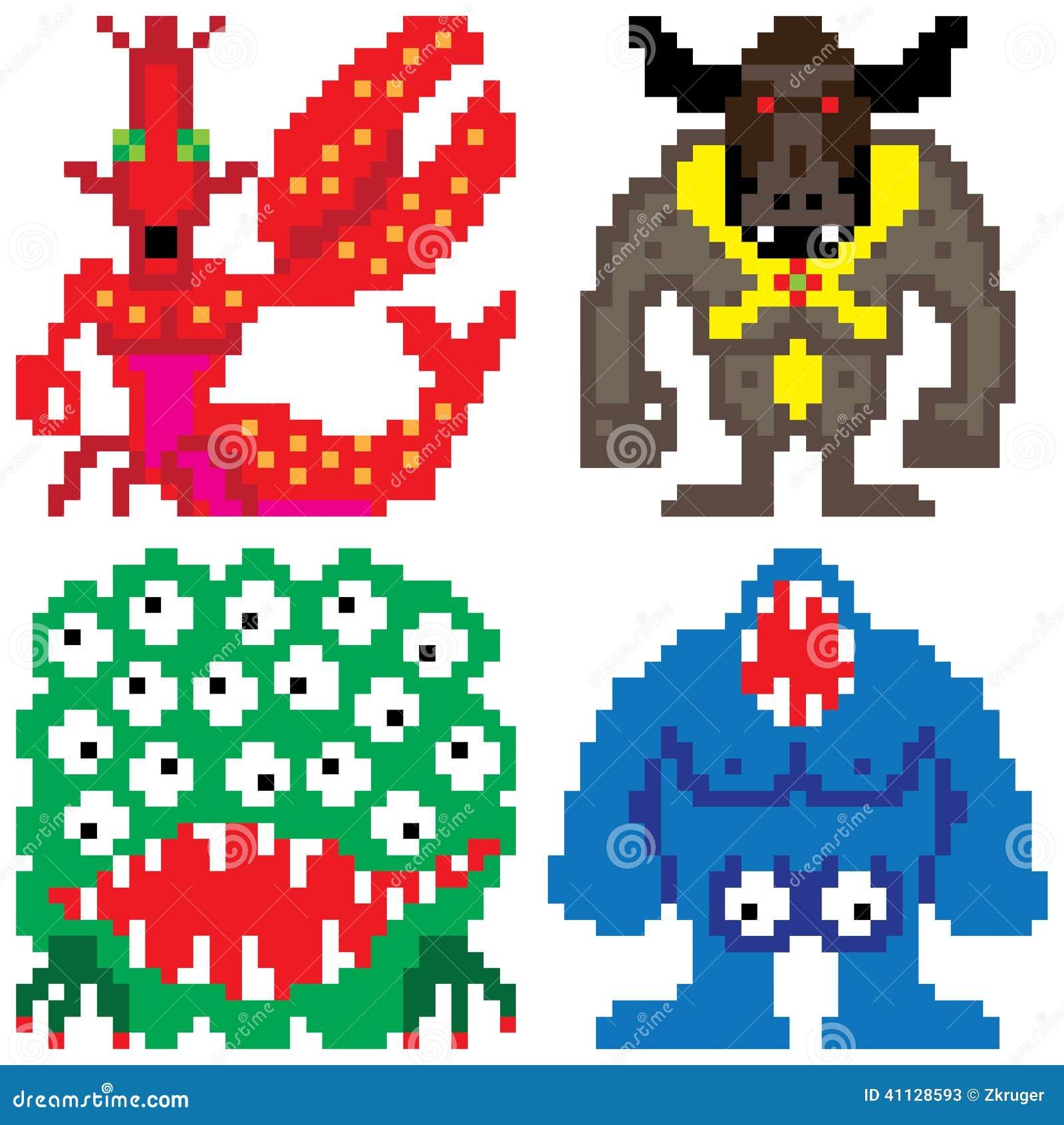 pixel art monstre