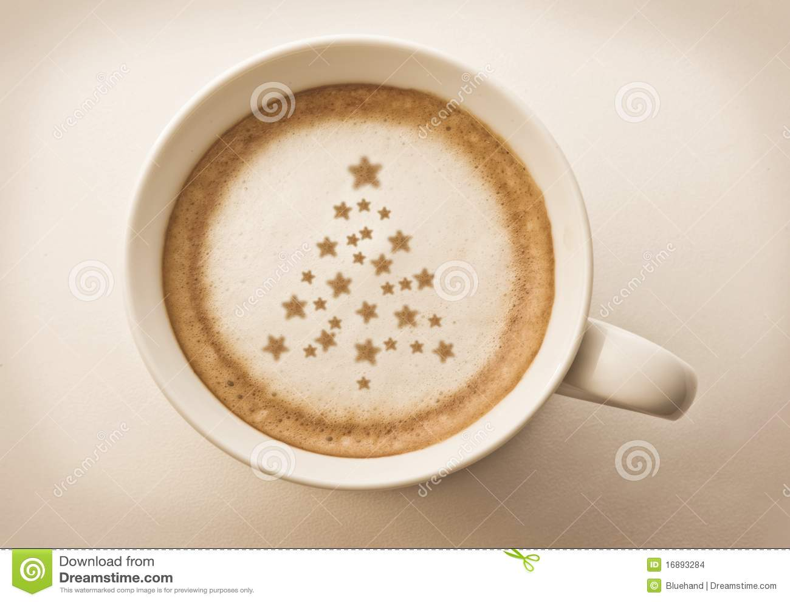 Art de latte de café d arbre de Noël