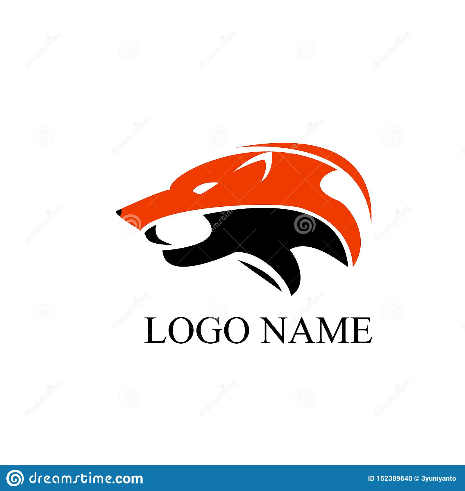 Art de logo de loup