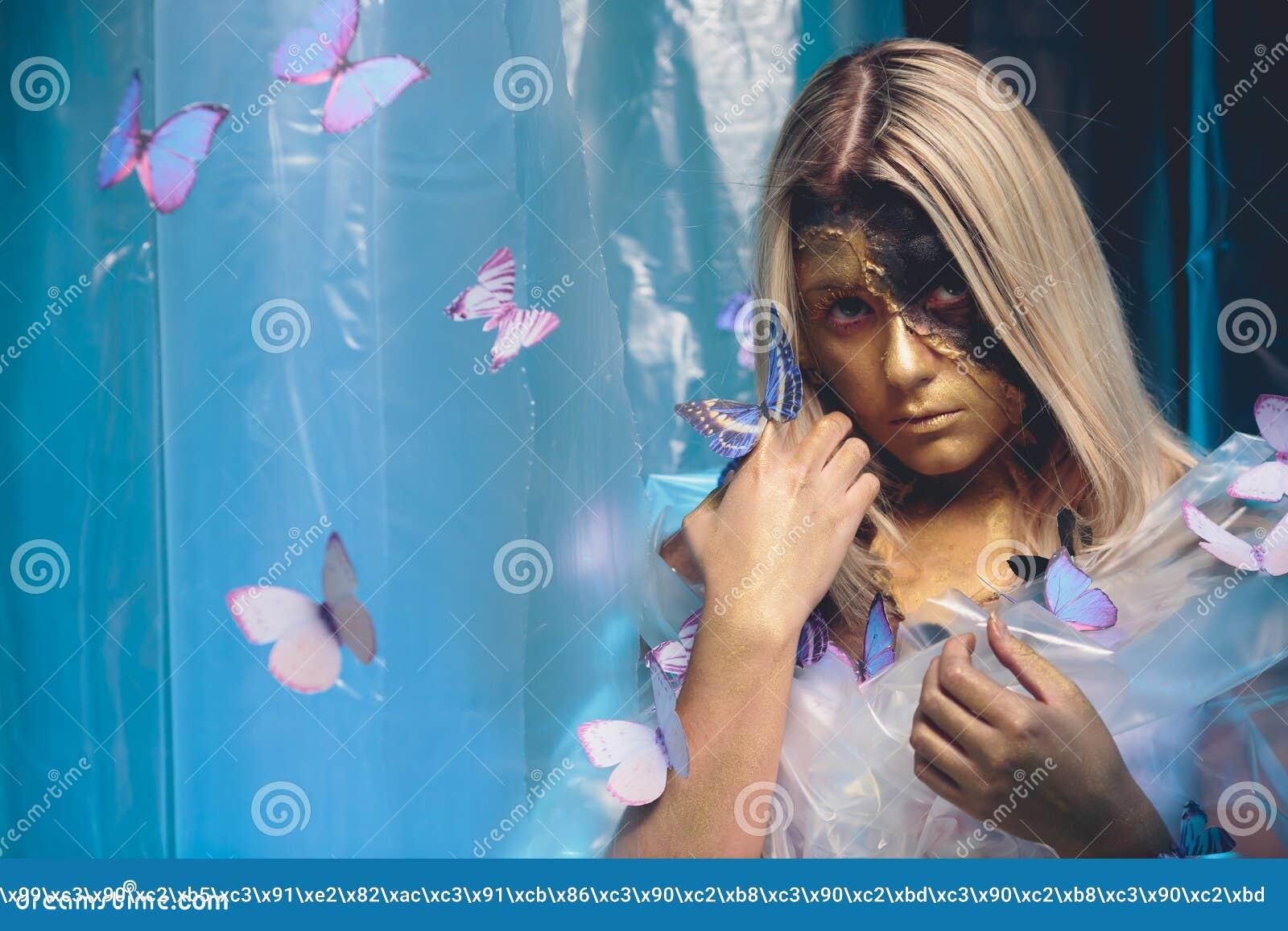 Art de papillon de fille