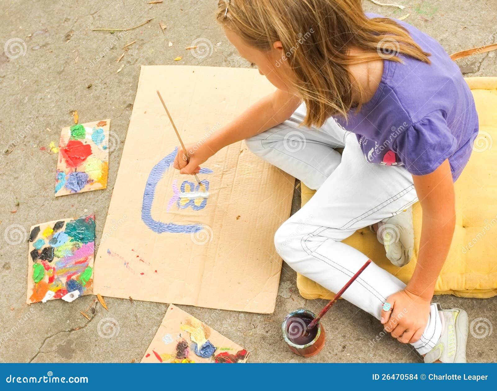 Art de peinture de jeune fille