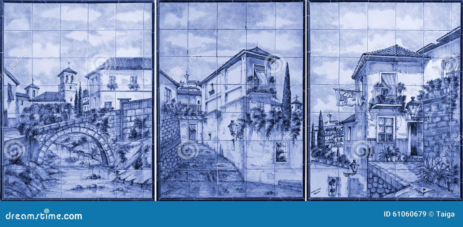 Art de peinture sur les tuiles, Alhambra, Grenade, Espagne