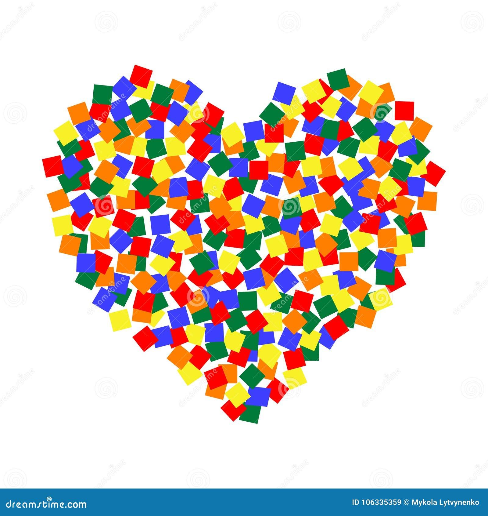 Art De Pixel De Couleur Du Coeur Lgbt Forme Multicolore De Coeur De Sticket De Places De La Communaute Du Vecteur Lgbt Illustration De Vecteur Illustration Du Coeur Vecteur 106335359