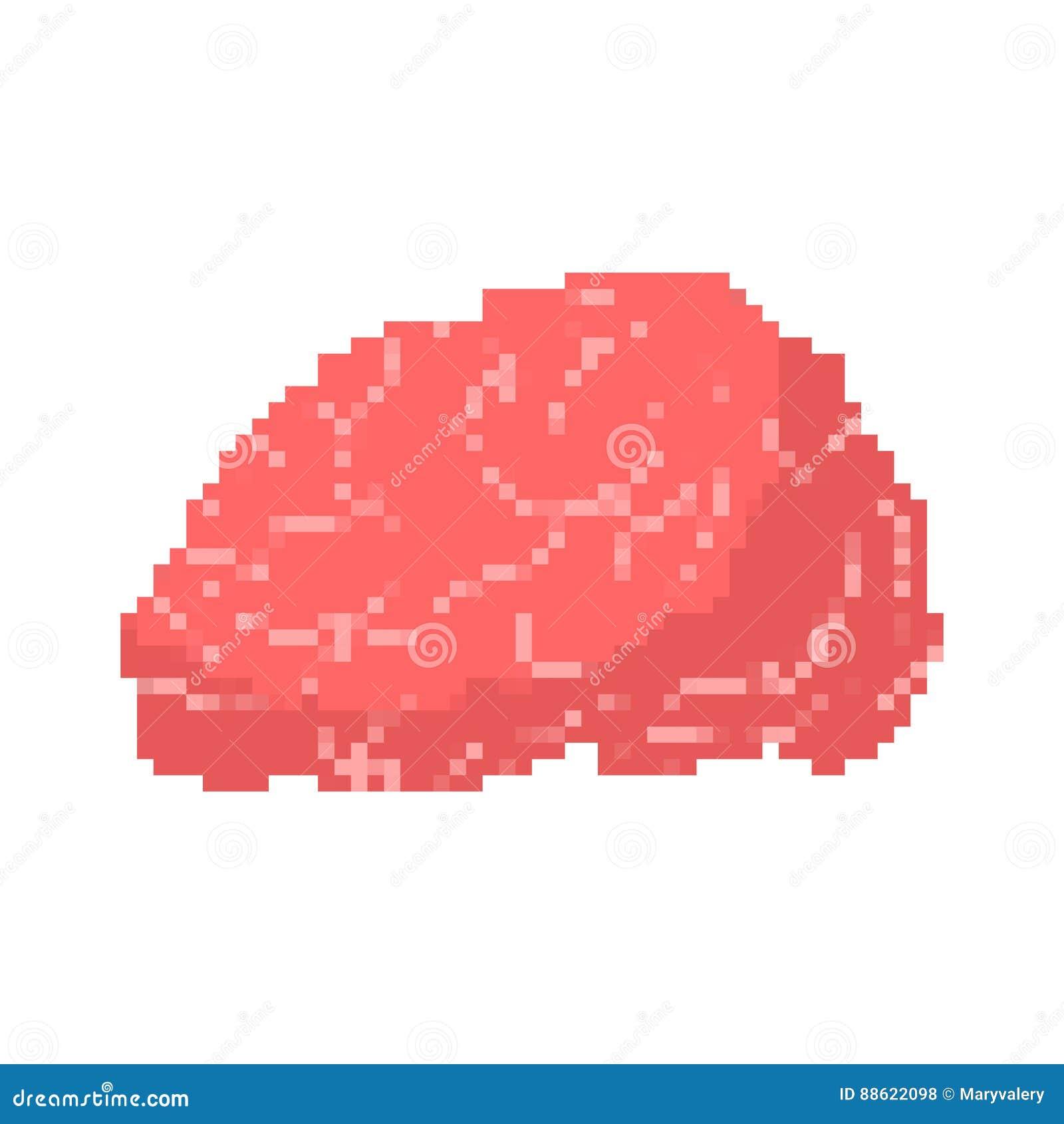 Art de pixel de cerveau Esprits humains pixelated d isolement