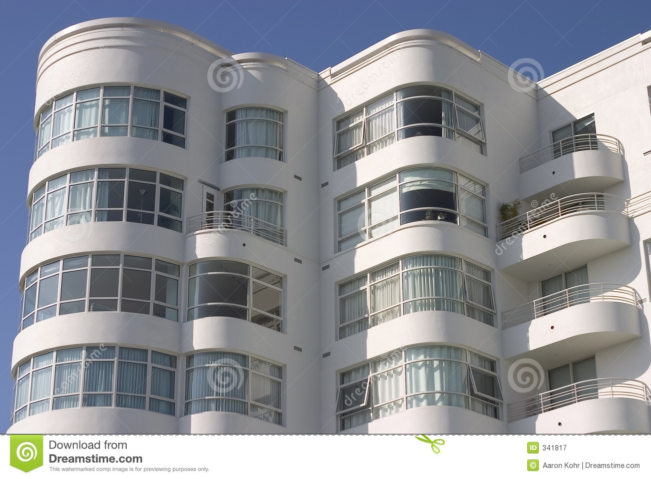 Art Deco Apartment Building #1 Stock Image - Image of design, city ...
