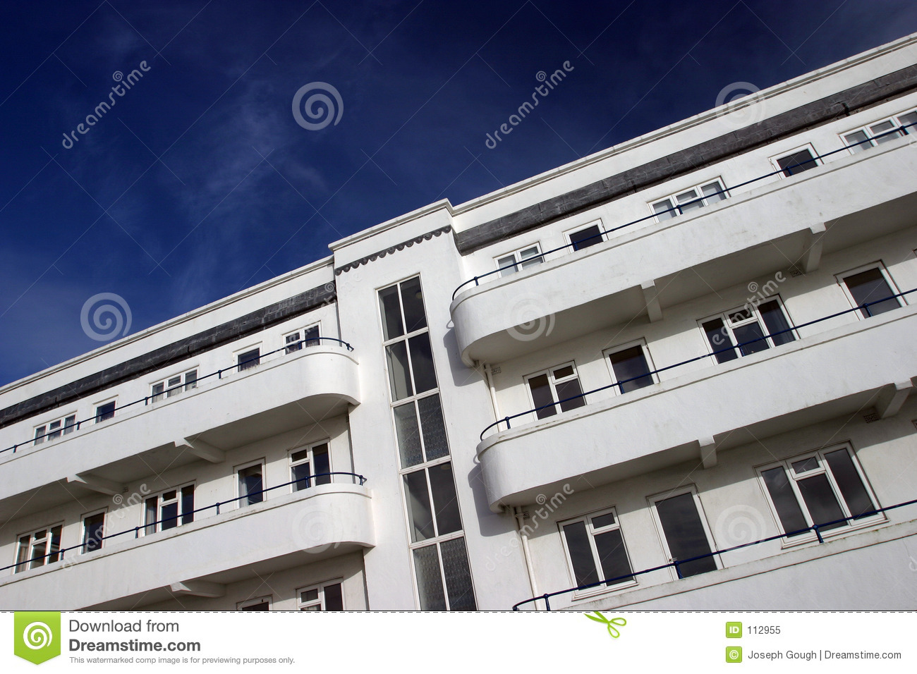 Download Art Deco Apartments stock image. Image of traditional, rise - 112955