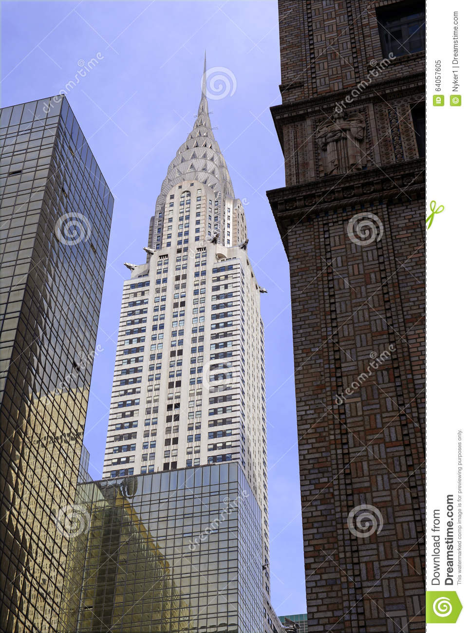 the art deco architecturally significant chrysler building in