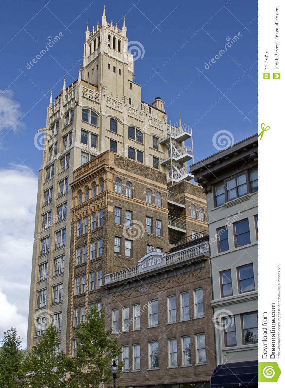 Art Deco Architecture Of Asheville NC Stock Photo Image
