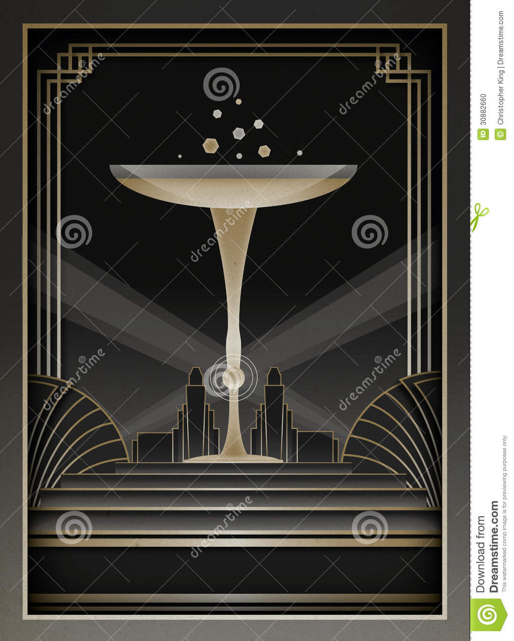 Art deco background and frame stock photo image 30882660 for Deco 5 elements