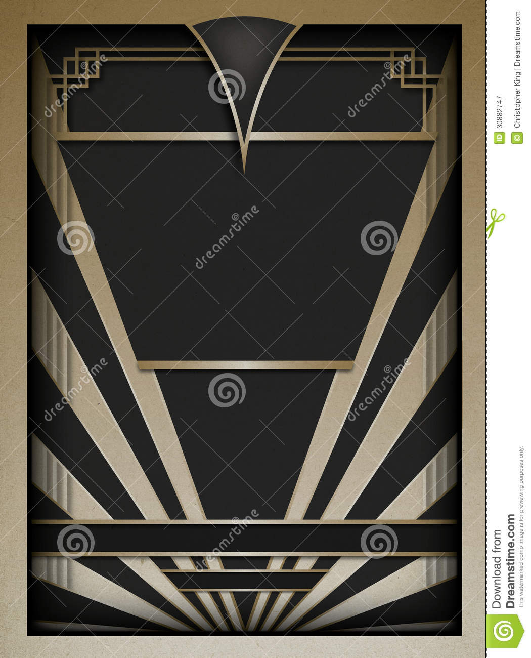 art deco background and frame stock vector image 30882747. Black Bedroom Furniture Sets. Home Design Ideas