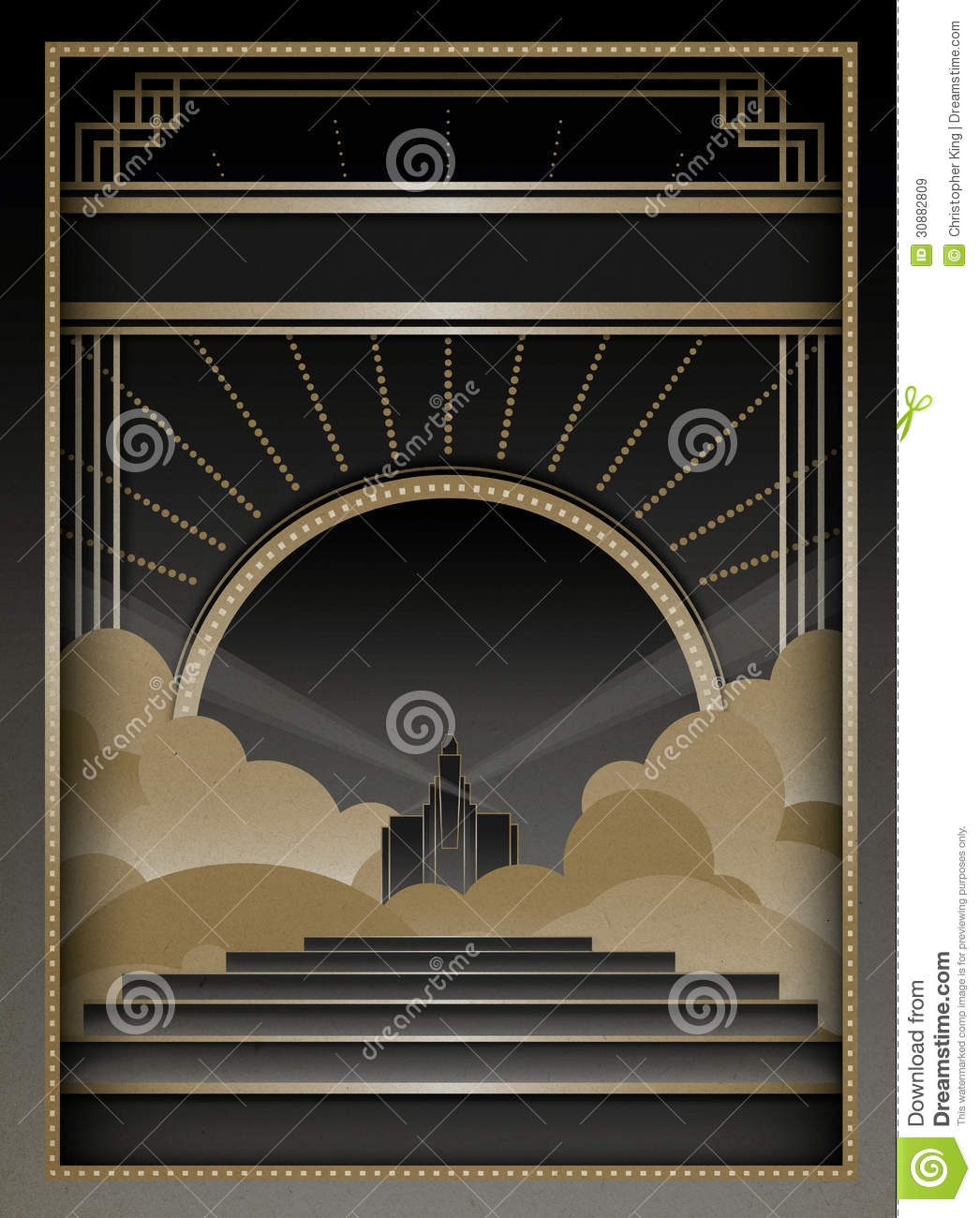 Art Deco Background And Frame Stock Vector Illustration Of Retro