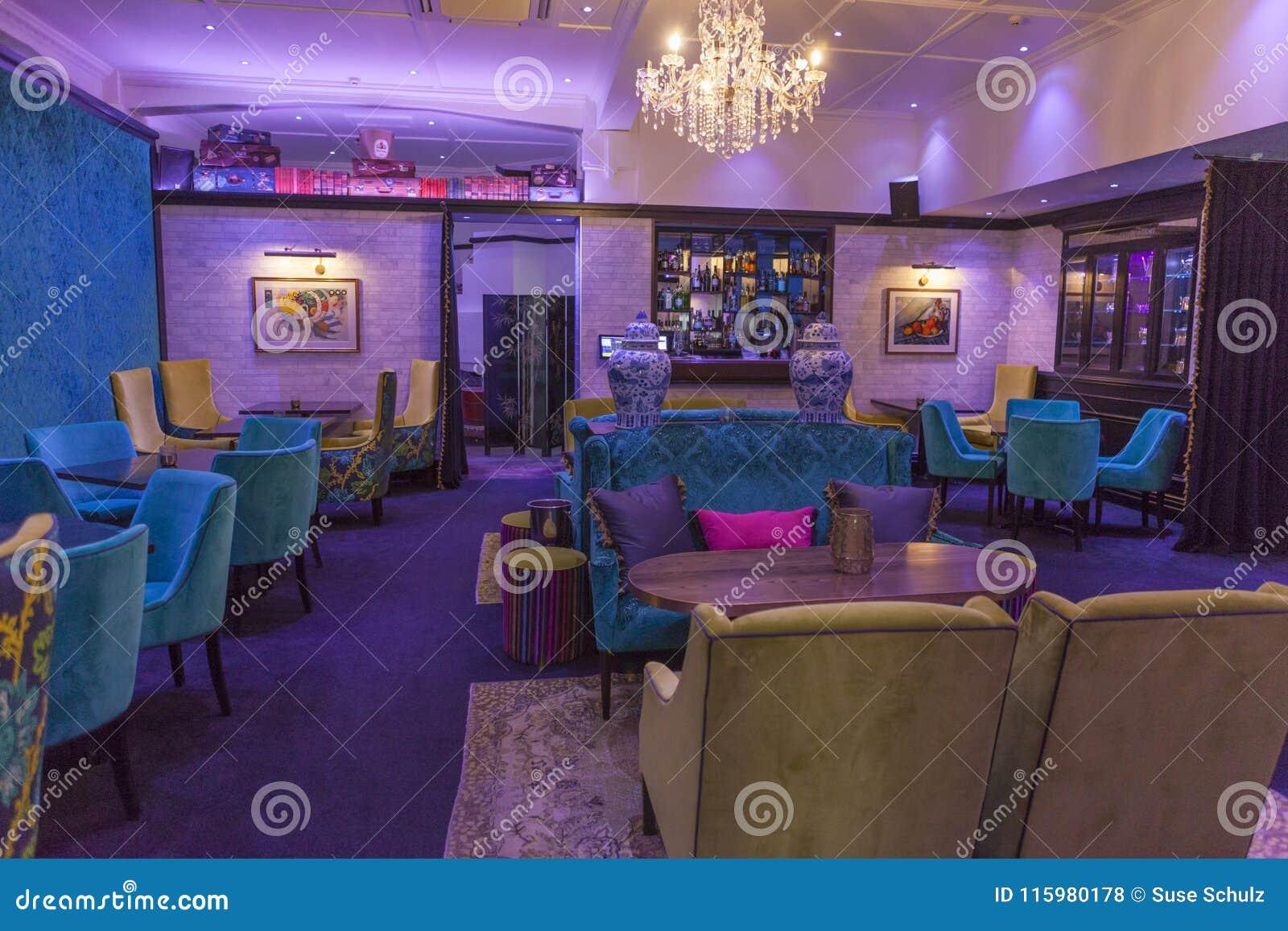 Art deco bar in napier new zealand editorial stock photo image