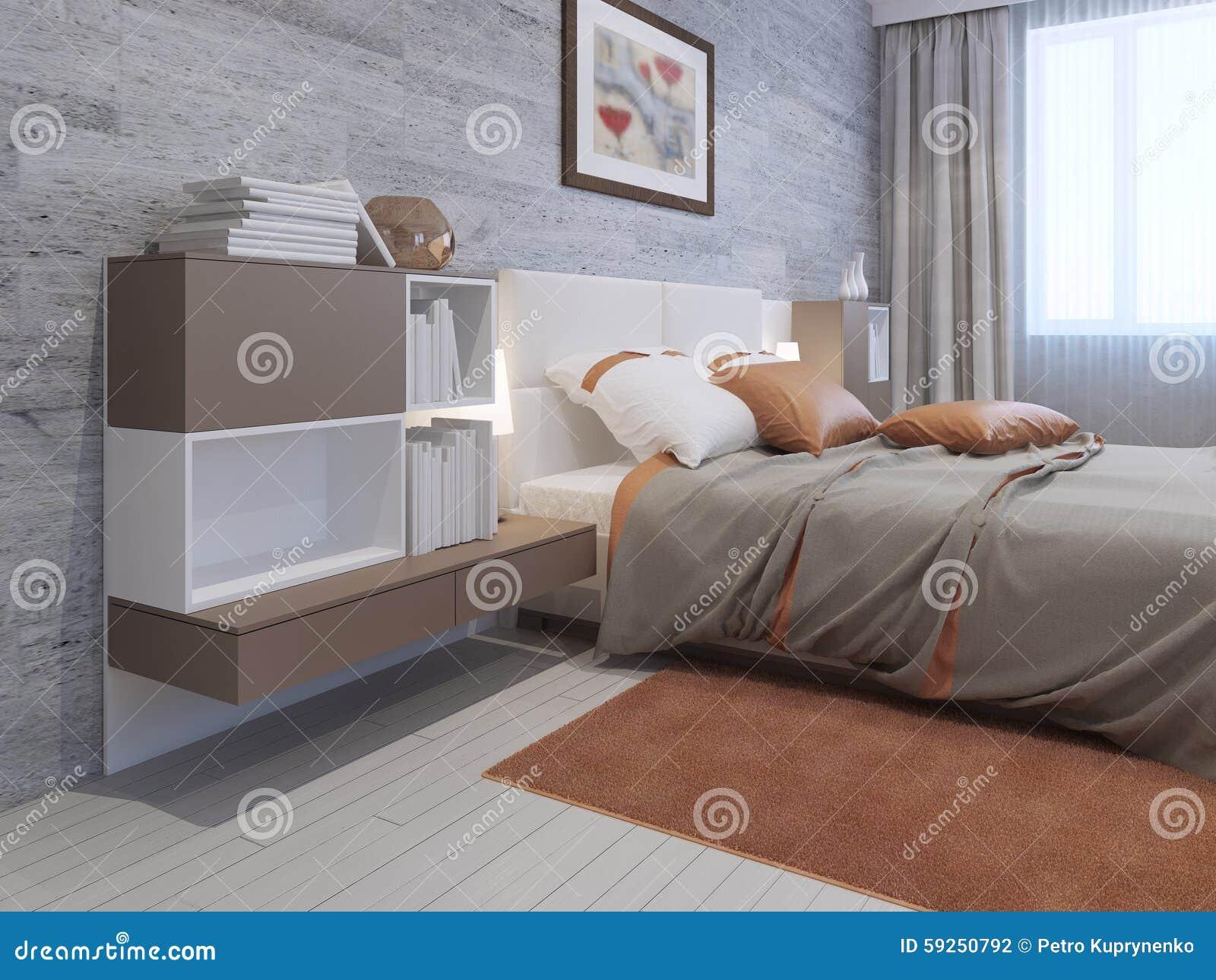 Art Deco Bedroom Furniture Stock Illustration Illustration Of
