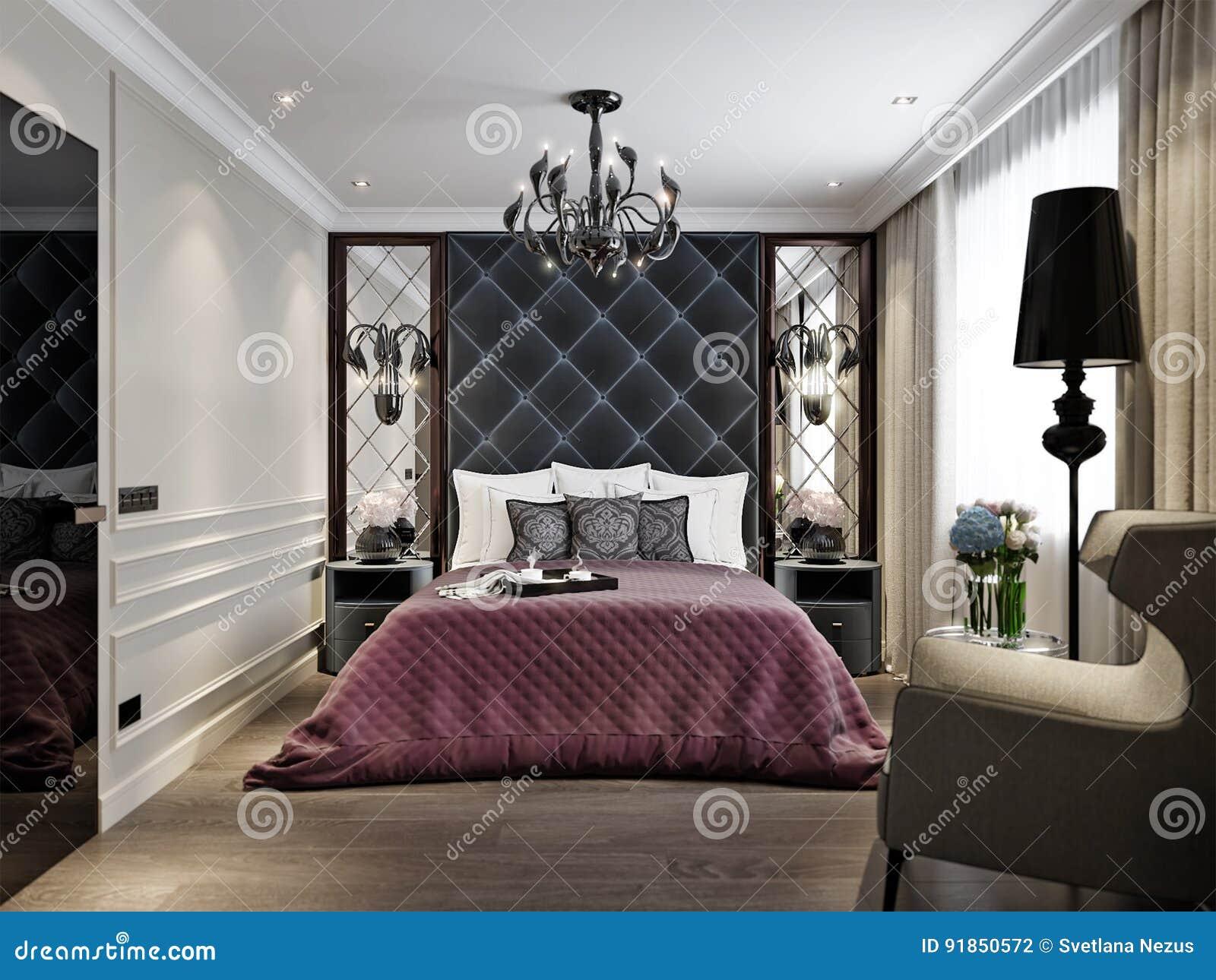 Art deco bedroom interior design classique moderne