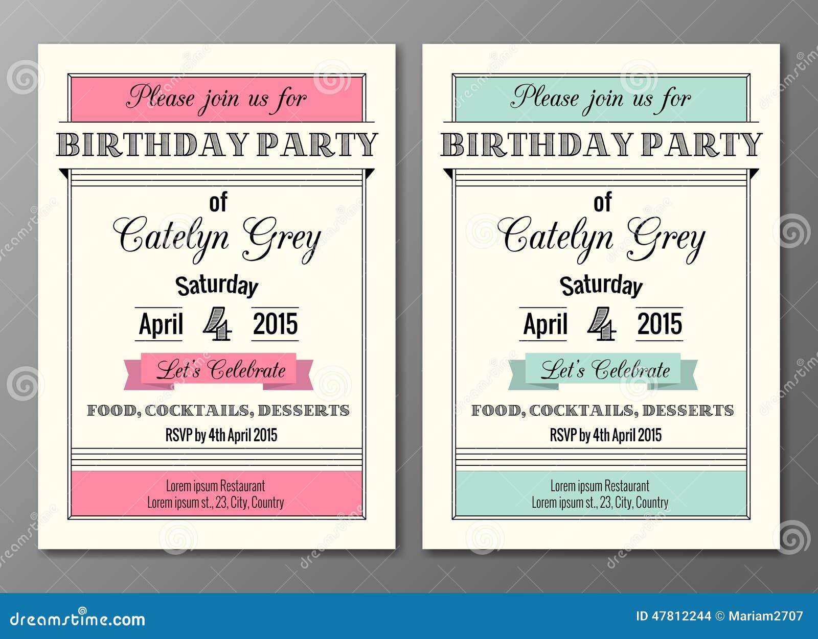 Art deco birthday party invitation ilustrao do vetor ilustrao art deco birthday party invitation stopboris Images