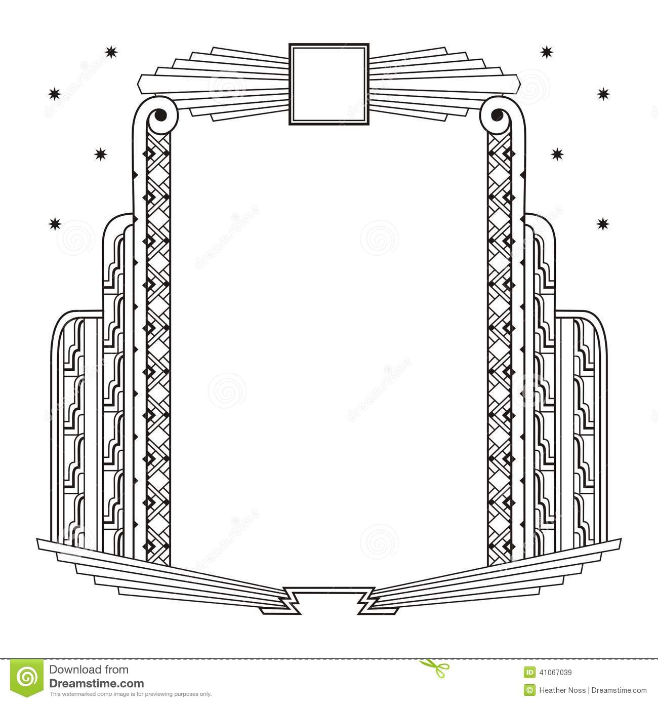 Art Deco Border And Frame Stock Vector Illustration Of Invitations