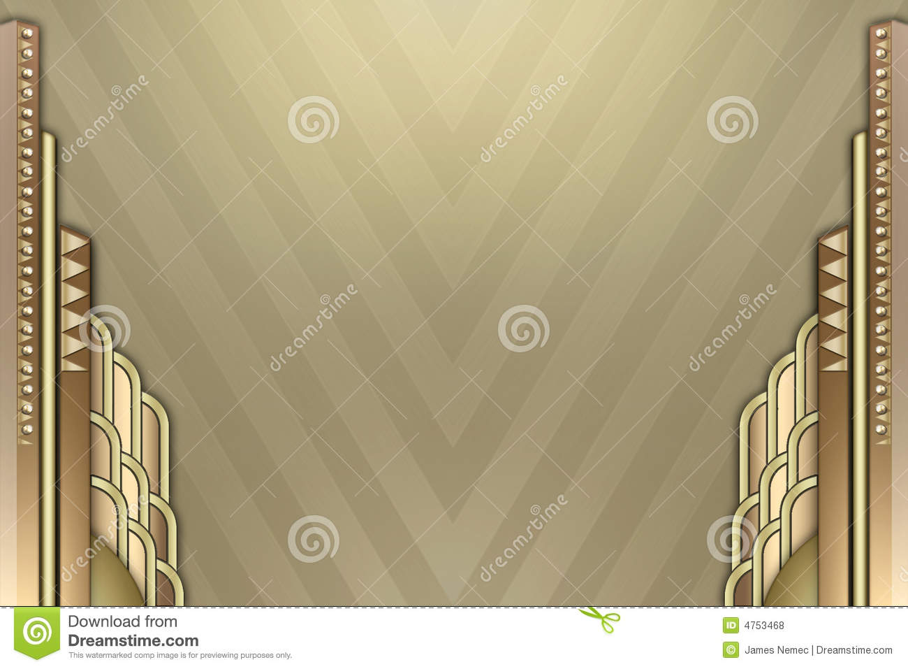 Art Deco Building Border Royalty Free Stock Photos Image