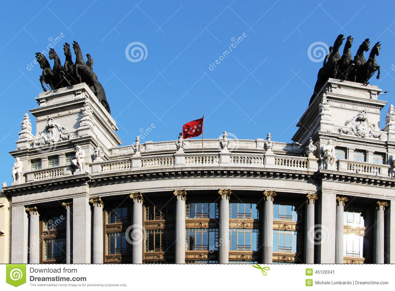 Art deco building of madrid spain stock image image - Art deco espana ...