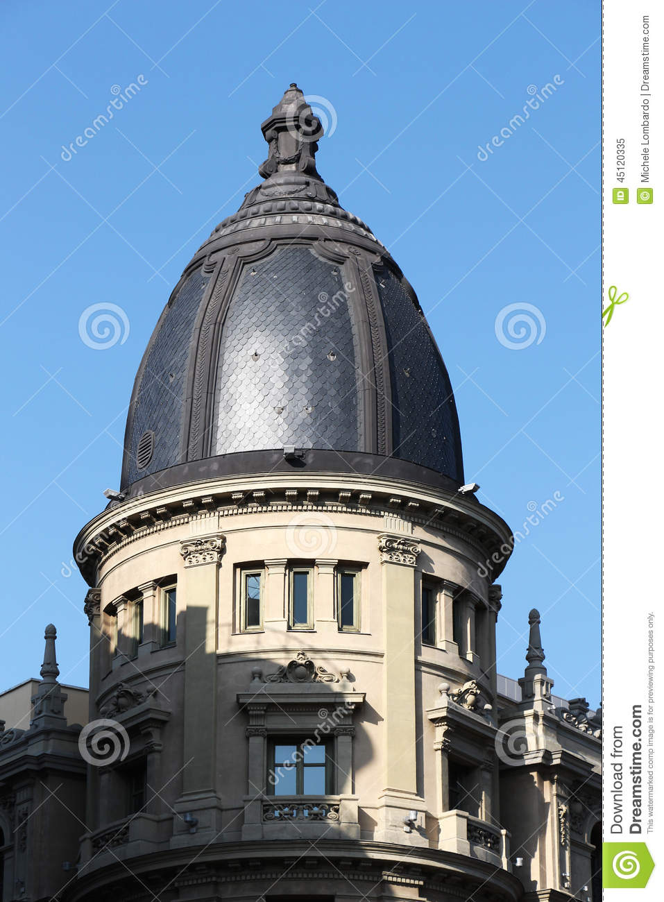 Art deco building of madrid spain stock photo image - Art deco espana ...