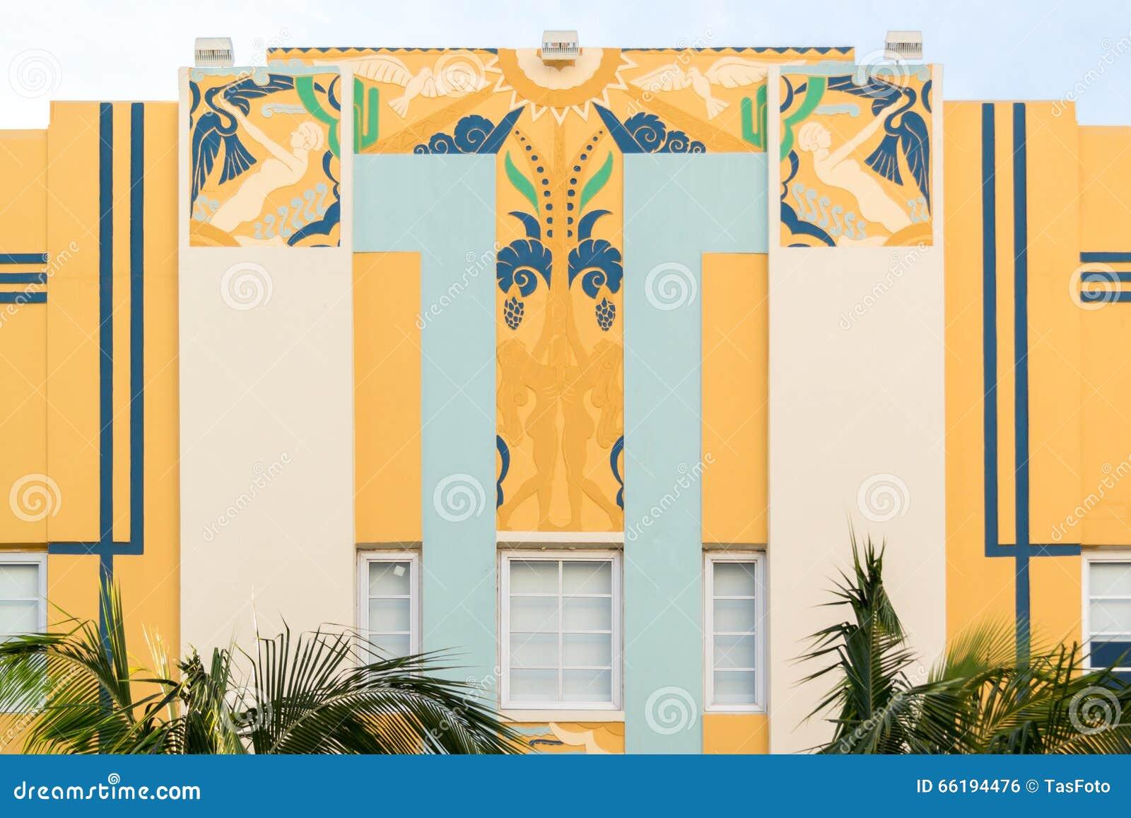 art deco building in miami beach florida editorial photo image of