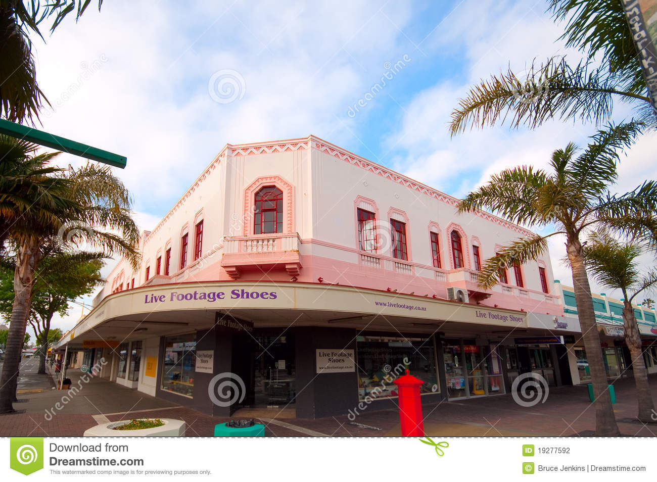 Art Deco Building In Napier City Editorial Photography Image