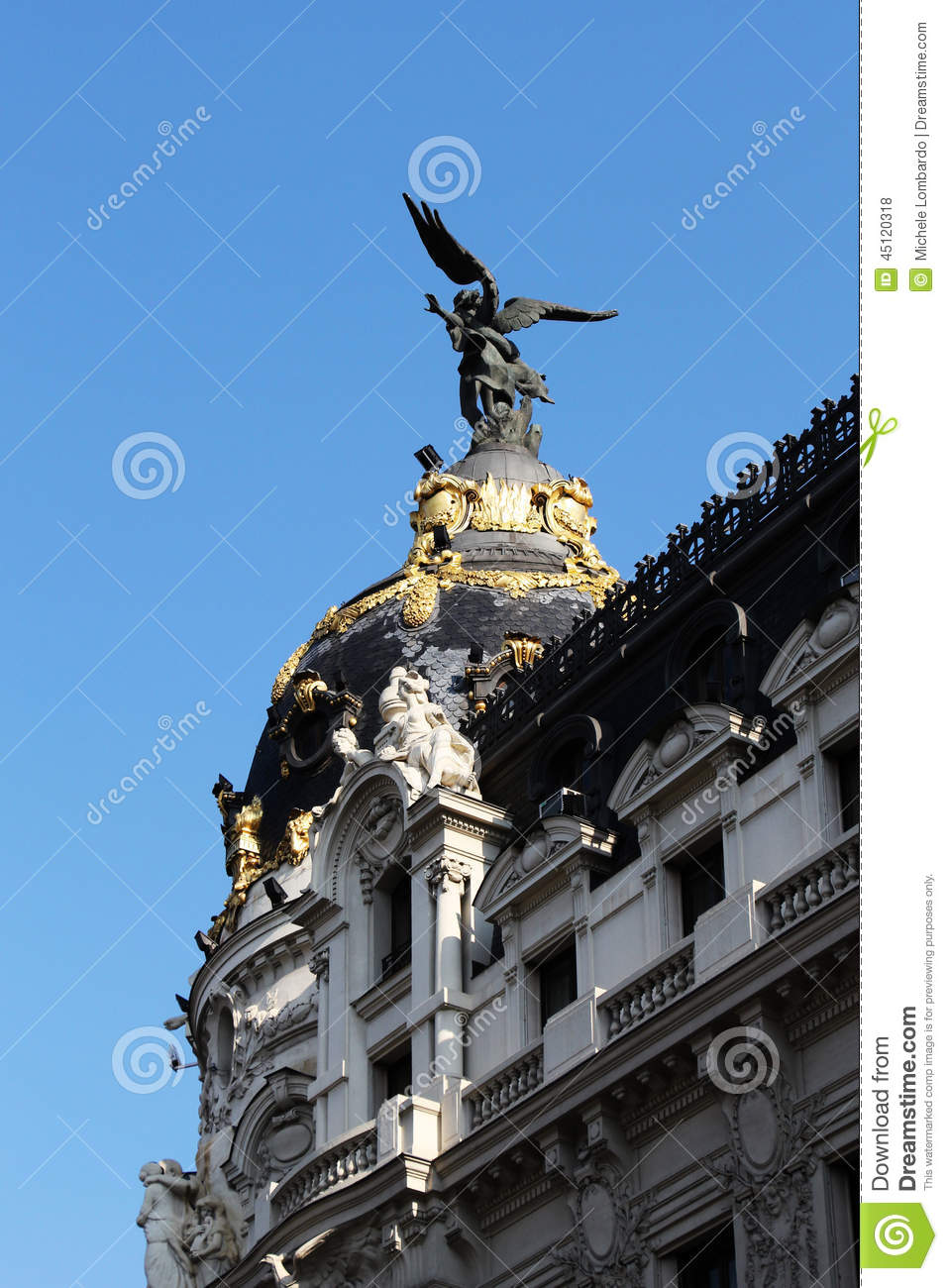 Art deco buildings of madrid spain stock photo image - Art deco espana ...
