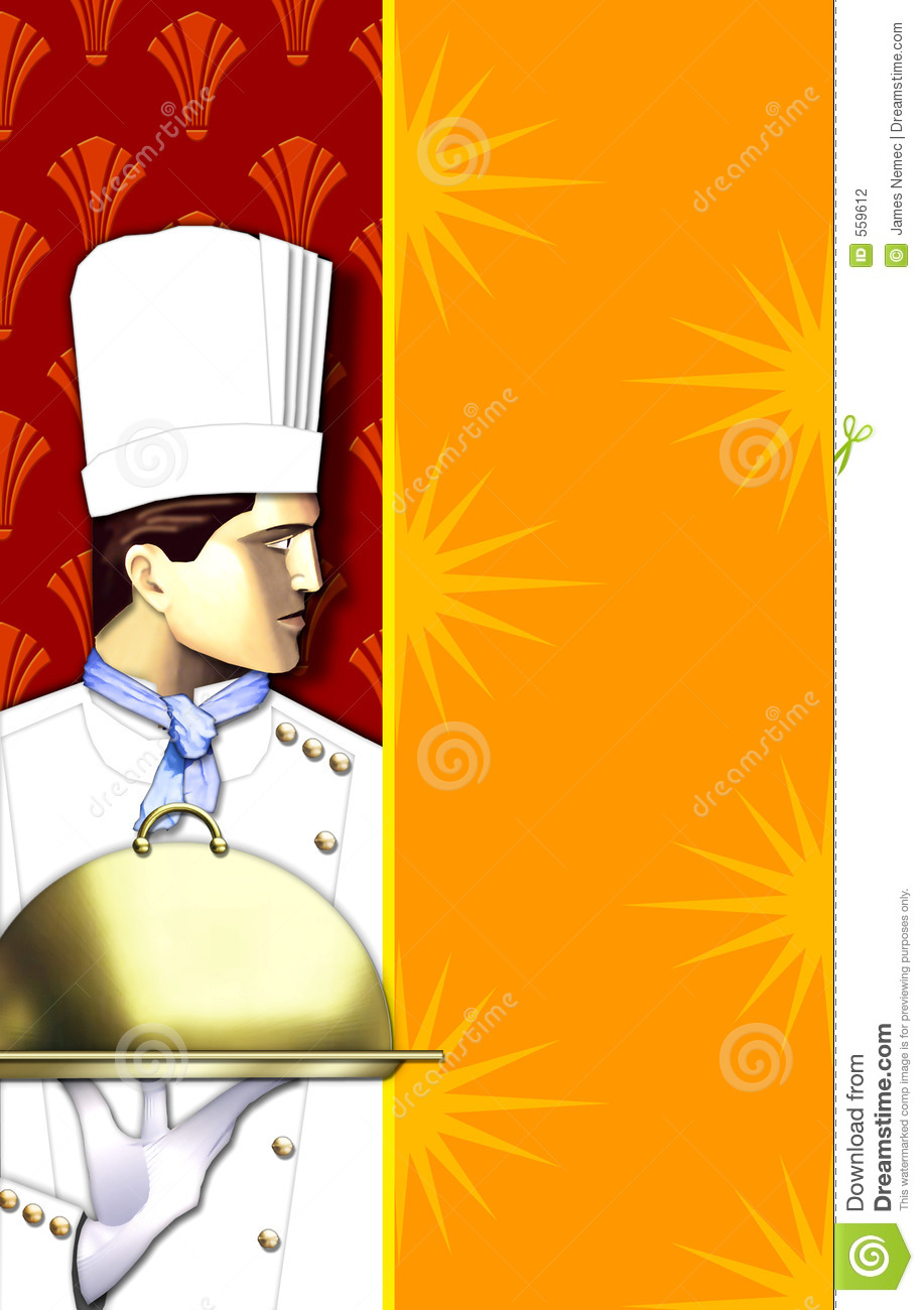 Art Deco Chef w/covered dish