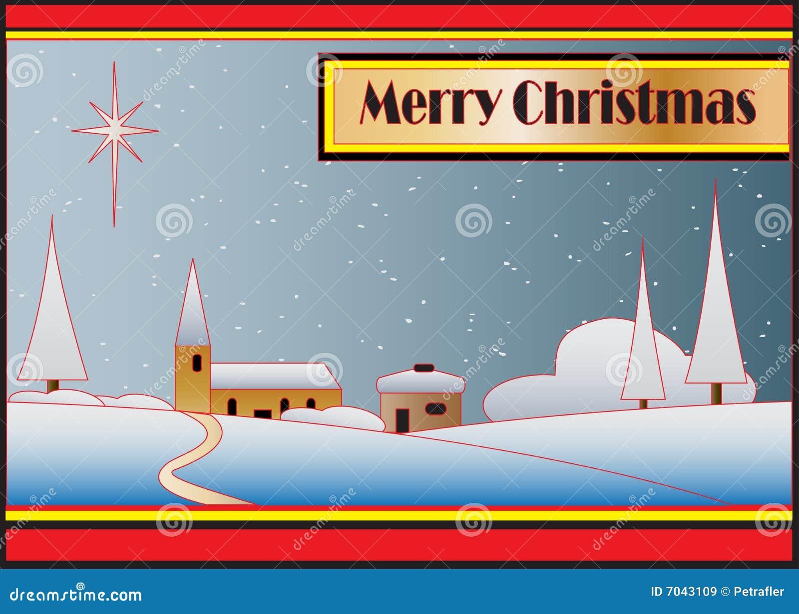 Art Deco Christmas Card stock vector. Illustration of vintage - 7043109