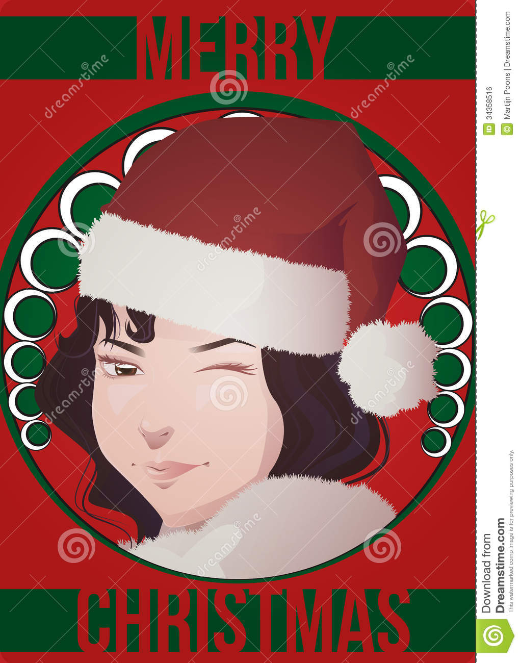 Art deco christmas card stock vector. Illustration of cool - 34358516