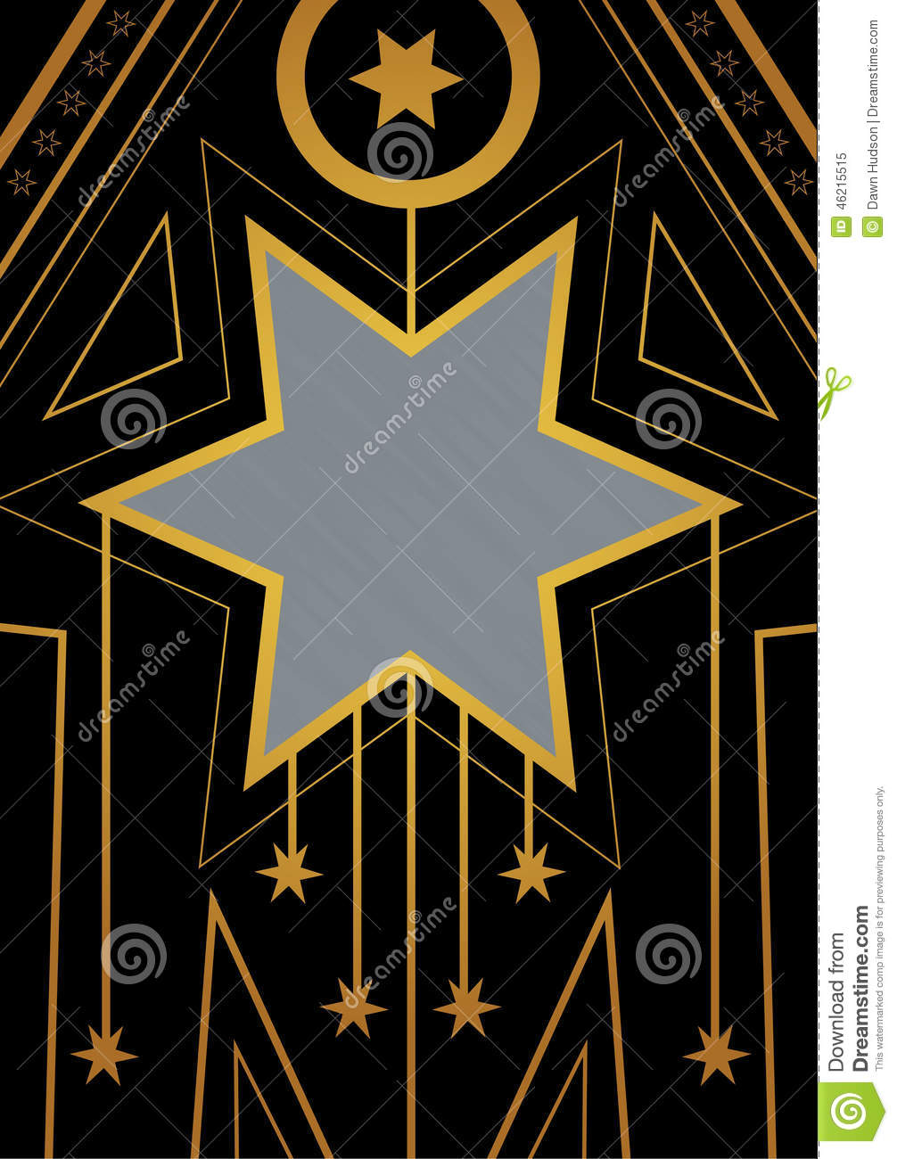 art deco christmas star border stock illustration image 46215515. Black Bedroom Furniture Sets. Home Design Ideas