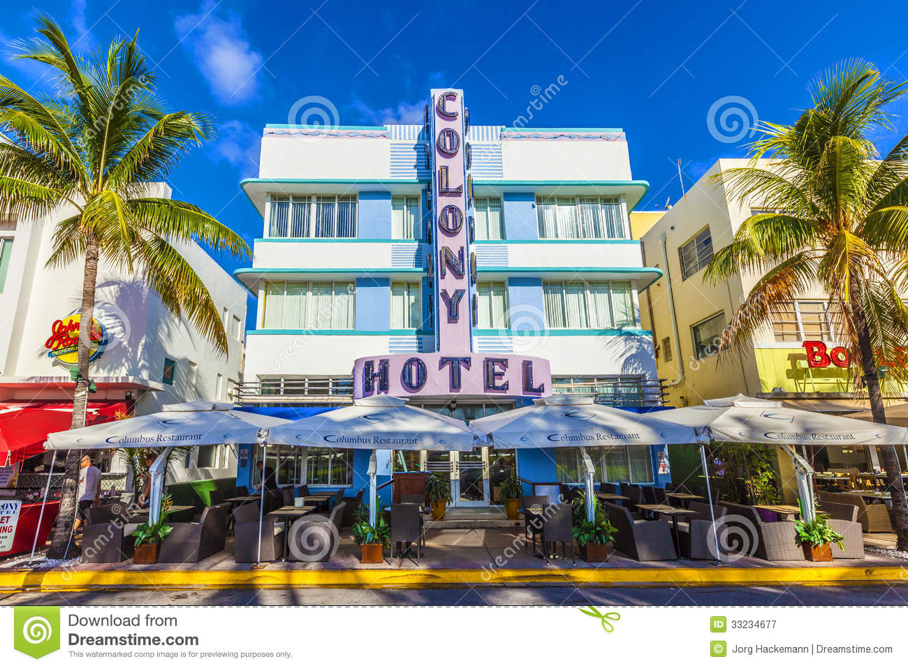 Ocean Drive Miami Beach Editorial Image