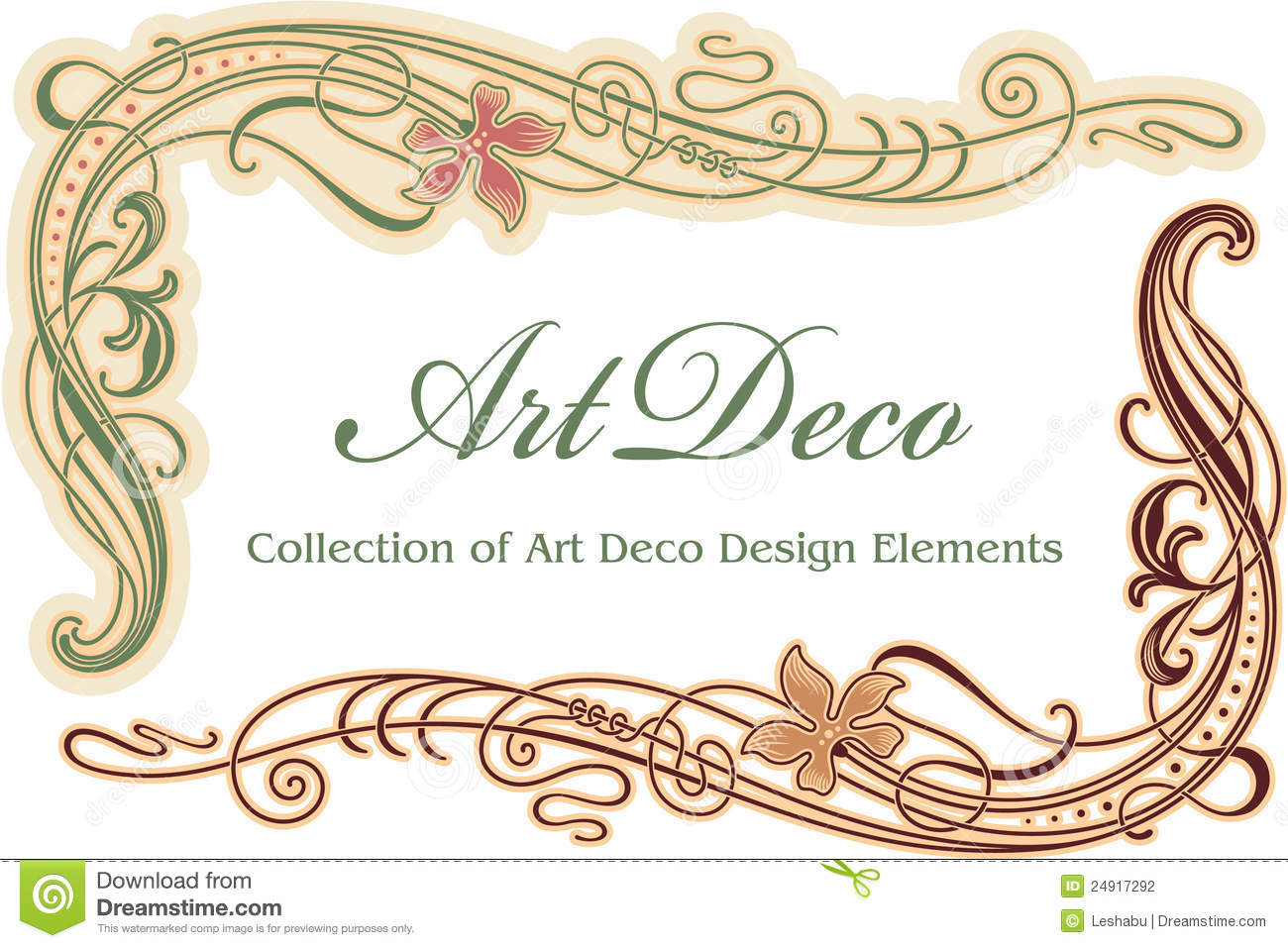 Art Deco Design Element Corner Stock Photography Image 24917292