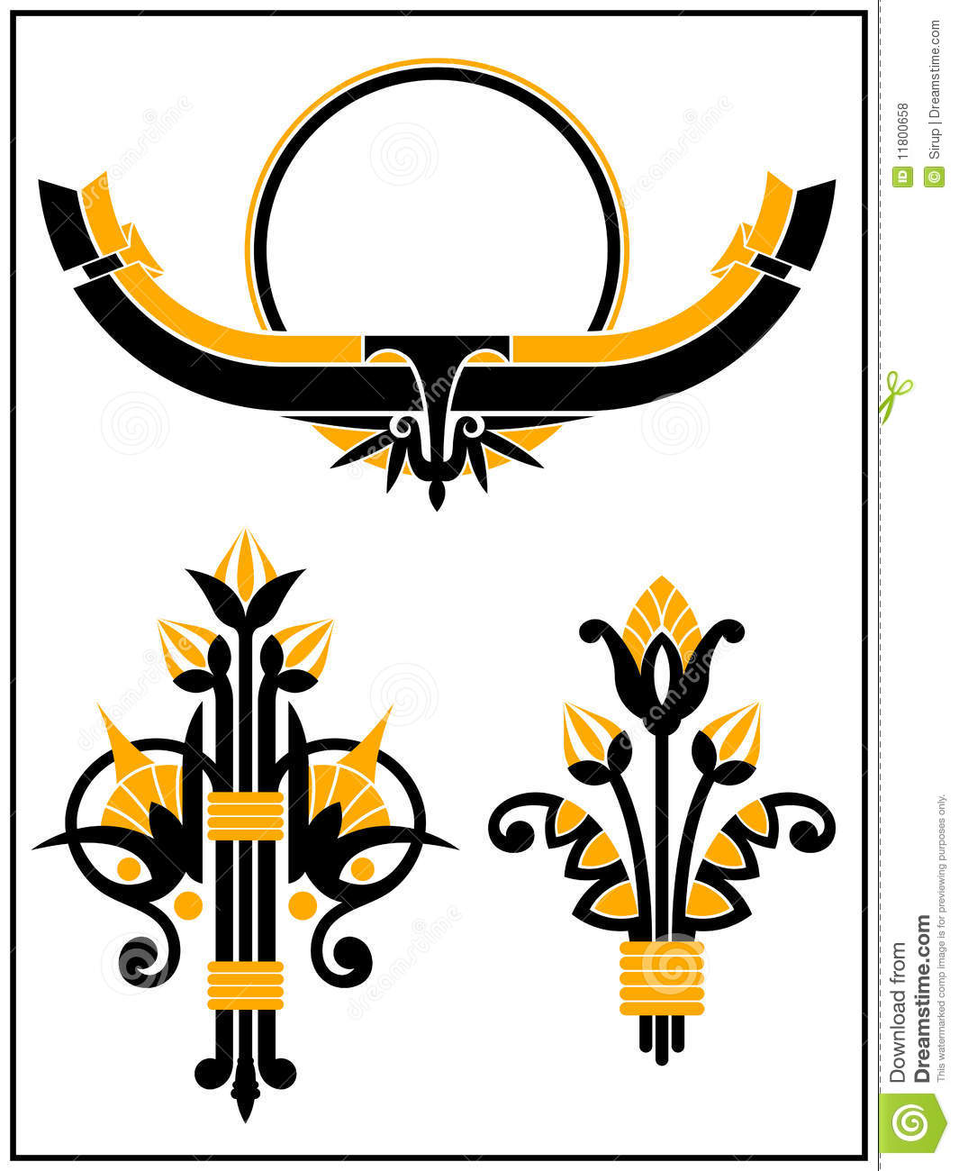 Art deco design elements collection stock vector image for Deco 5 elements