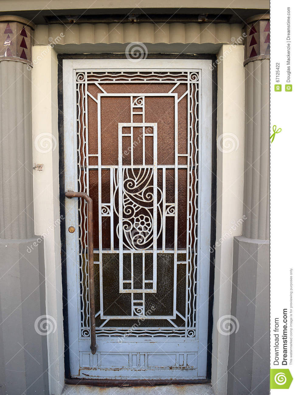 Royalty-Free Stock Photo. Download Art Deco Door ... & Art Deco Door Bucharest Romania Stock Photo - Image: 67125422 pezcame.com