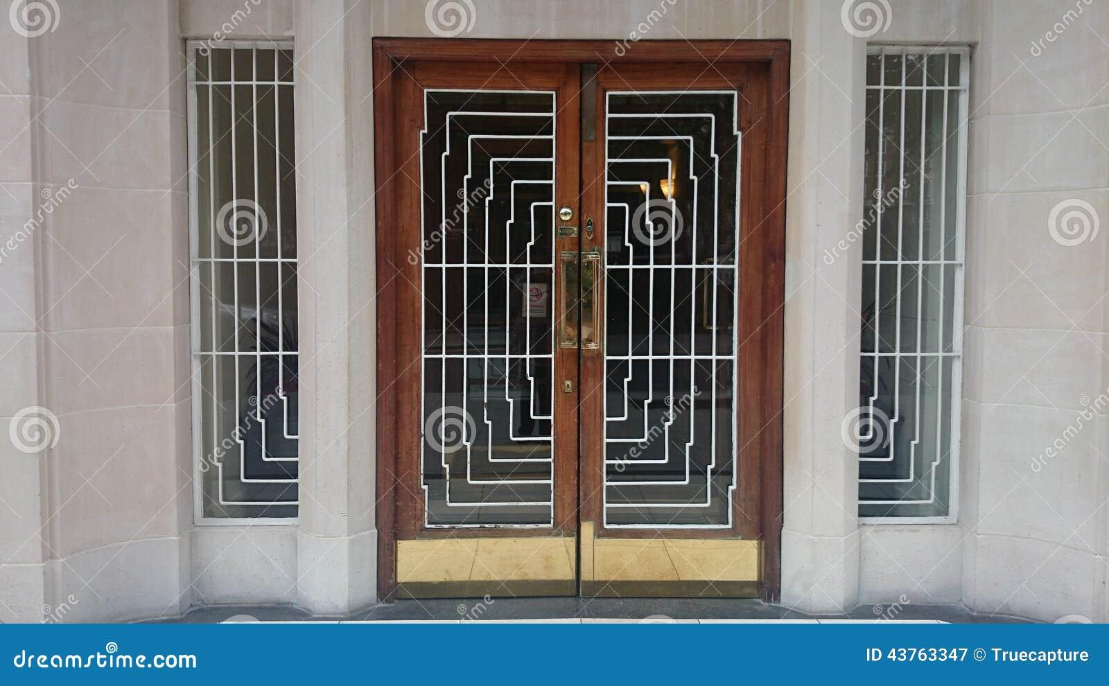 Download Art Deco Door Stock Image. Image Of 1920, Nouveau, Deco   43763347