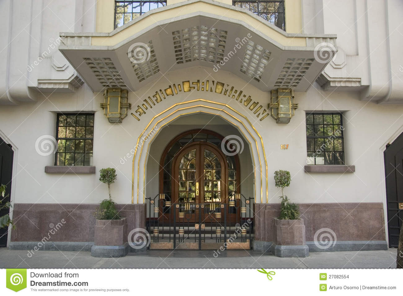 Art Deco Facade Editorial Stock Image Image 27082554