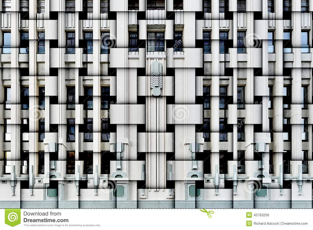 Art Deco Facade Stock Photo Image 45763256