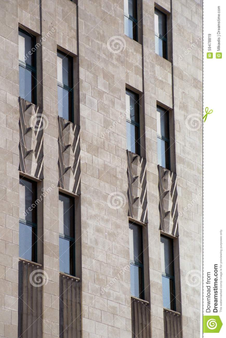 Art Deco Facade Details Stock Photo Image 59478819