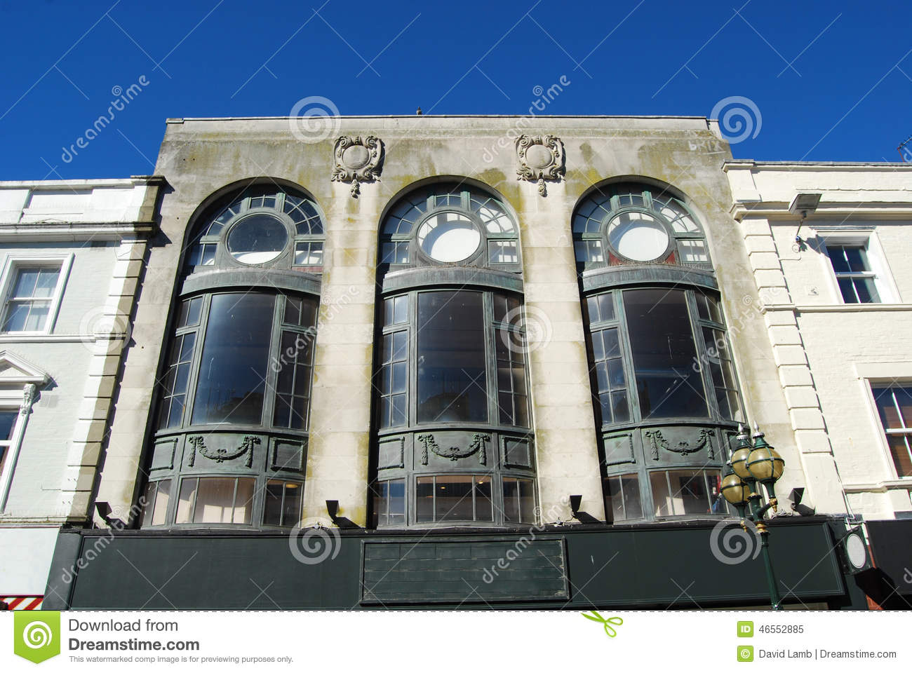 Art Deco Facade Stock Photo Image 46552885