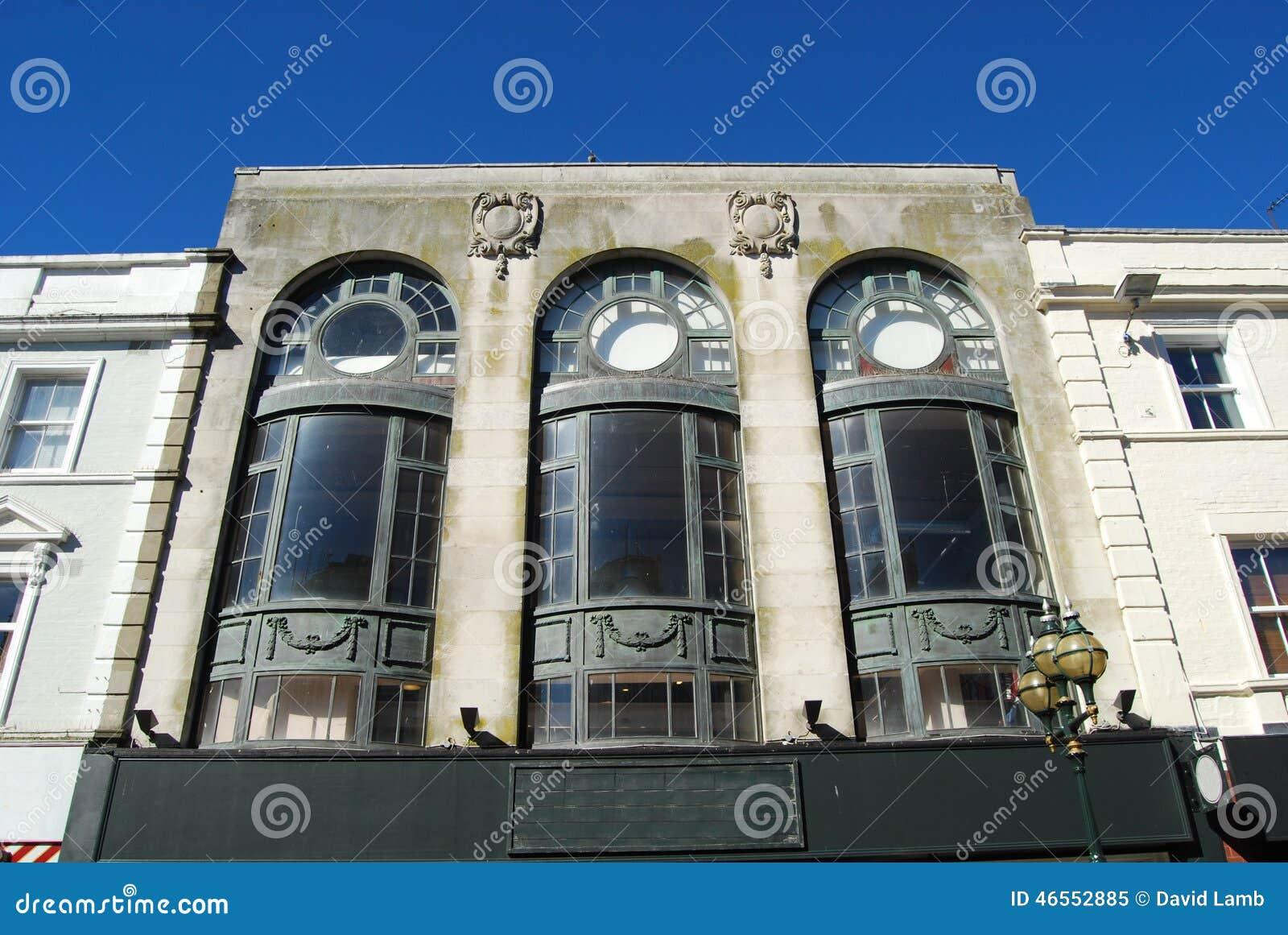 Art deco facade stock image image of period deco for Art deco online shop