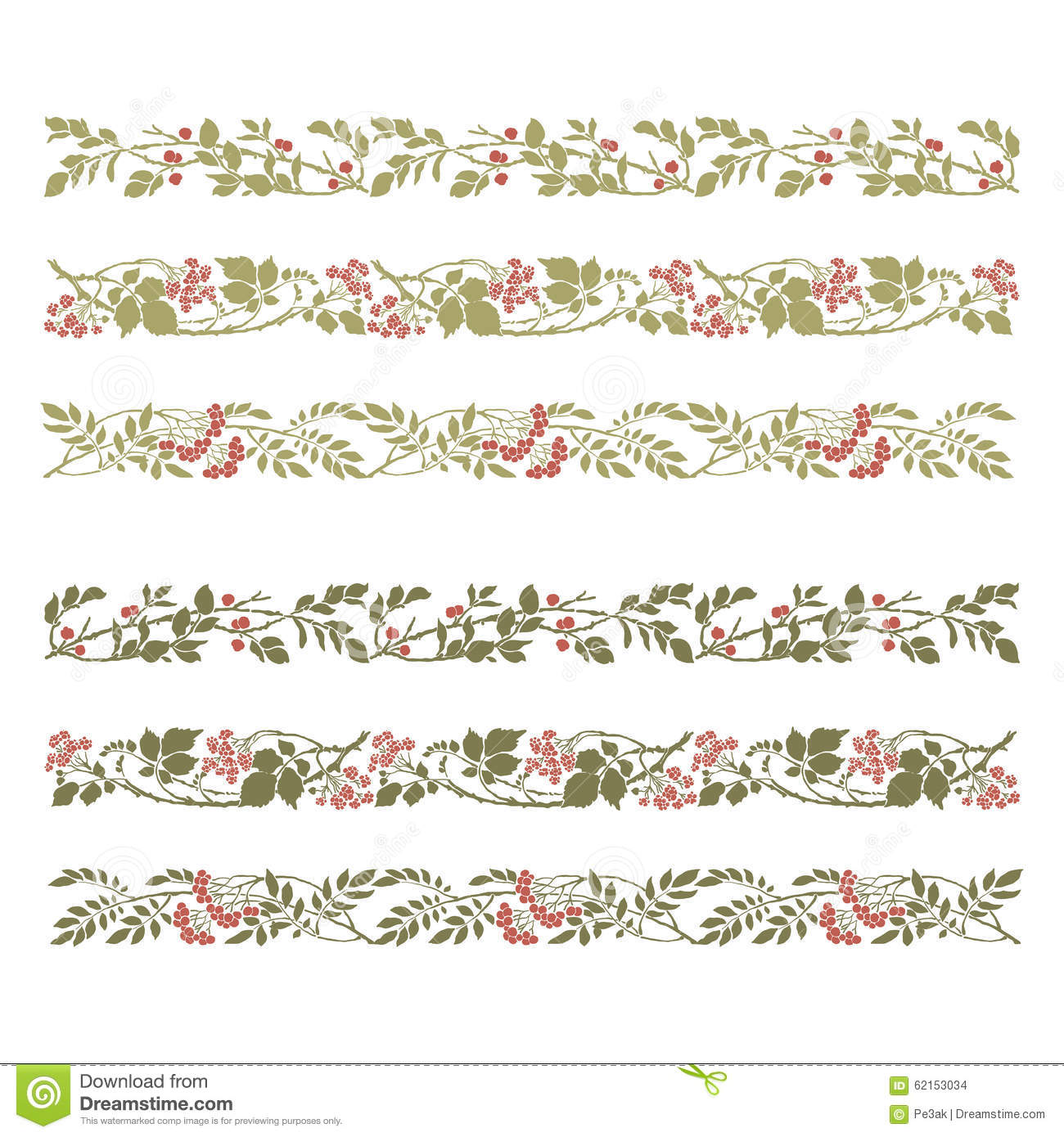 Art Deco Floral Design Elements Stock Vector Image 62153034